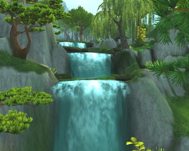 "alt=""waterfall jade forest new character models wow""/>"