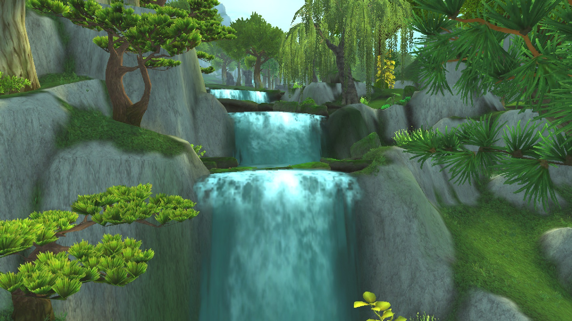 """alt=""""waterfall jade forest new character models wow""""/>"""
