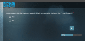 """alt=""""level squish survey sent out to fans""""/>"""