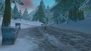 """alt=""""world of warcraft classic first week - snowfall in dun morogh while questing""""/>"""
