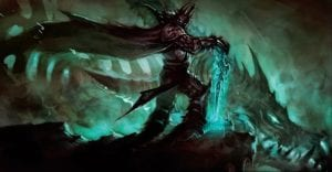 """alt=""""blizzcon 2019 virtual ticket - cinematic artbook pictures from wowhead featuring the Lich King""""/>"""